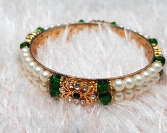 Crystal & Pearl bracelet