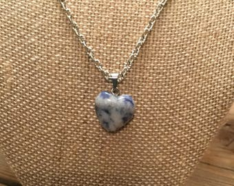 Blue/ White Heart Pendant