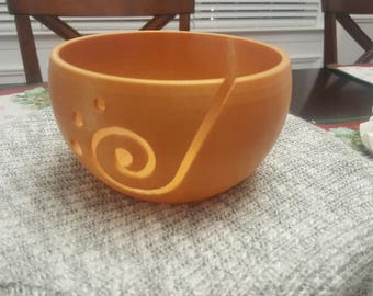 Gold Yarn Knitting or Crochet Bowl Custom Made Size 5.5in or Large 11.8in (Made From PLA Renewable Biodegradable Plastic) Great Gift!