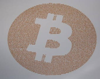 Bitcoin Whitepaper Poster