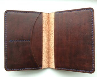 Handmade vegtan leather passport or field notes holder-genuine leather-personalized