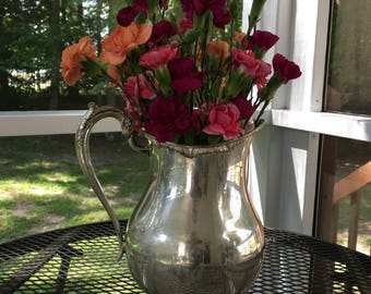 FB Rogers SilverPlated Water Pitcher with Ice Guard