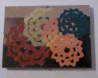 Meander, papercut craft, paper snowflake, collage