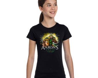Youth Girls Short Sleeve Aaron's Creed T-Shirt
