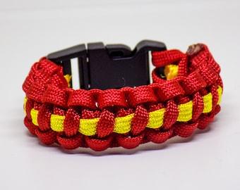 Yellow Line Paracord Bracelet