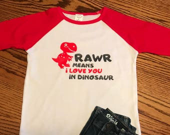 Rawr Boy's Valentine Shirt