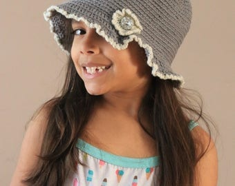 Gray crochet hat