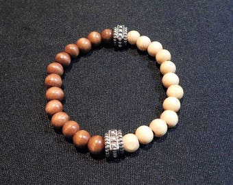 Men's stretch-Top Notch  bracelet-two tone