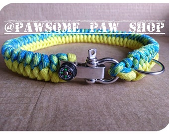 Custom Vector Paracord Dog Collar - Handmade dog collar - thick wide