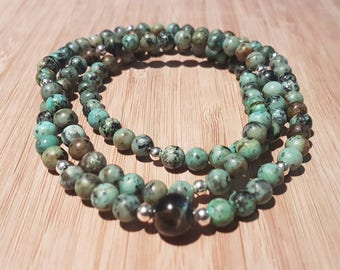 108 African Turquoise Mala - Transformation