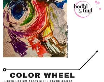 Color Wheel:Deconstructed Original Abstract Art  Painting