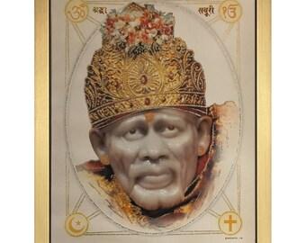Sai Baba Of Shirdi In Size 20″ x 14″ Inches - Hindu Gurus Saints Frames
