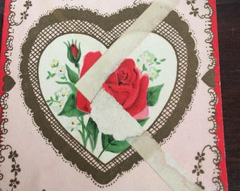 Used Vintage Gibson Pop Up / Pop Out Valentine Card To My Wife 1940s WW2 Era