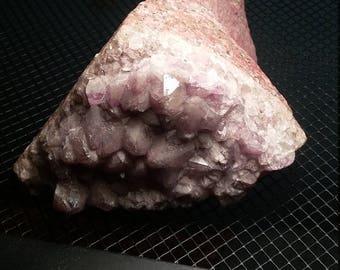 Large Amethyst cluster on matrix
