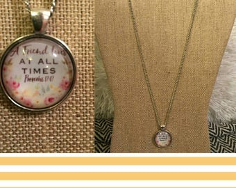 A friend loves at all times pendant necklace