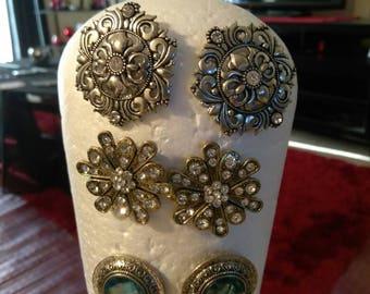 New Handmade pierced Stud earrings