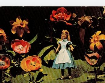 Vintage Alice in Wonderland Postcard | Unused | Walt Disney World Florida Mickey Mouse Revue Movie Cartoon  | Paper Ephemera