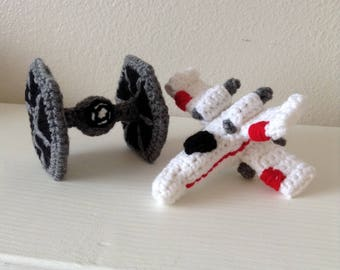 Star Wars TIE fighter and X-Wing crochet pattern PDF file