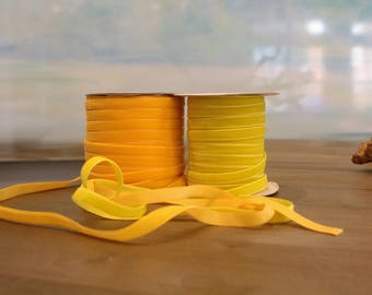 Special Order Wholesale Velveteen Ribbon Yellow Collection / Pre-Order Rolls / Yellow  Collection / ER-POYC-1