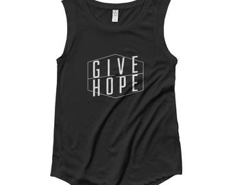 FACT goods Give Hope Women's Muscle Tee Tank Top