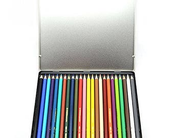 24 Personalised Stabilo Colouring Pencils in a Tin