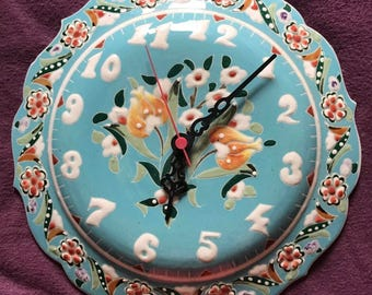 Handmade Ceramic Tile Clock