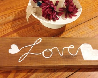 Reversible Wooden Faith Love Sign