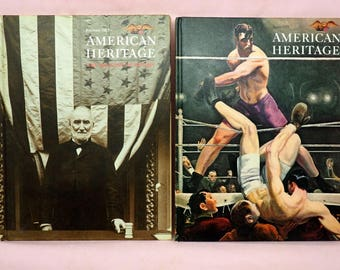 American Heritage Magazines 1977 Hardcover Volumes 1 & 2