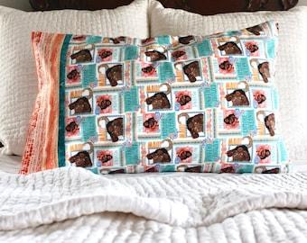 Moana pillowcase, Moana bedding, pillowcase for kids, standard pillowcase, handmade pillowcase, Moana birthday, Moana, Disney
