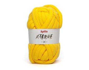 Chunky Yarn, Chunky Knit Yarn, Super Chunky Yarn, Yarn For Blanket, Katia Yarn, Super Bulky Yarn, Bulky Yarn, Rug Yarn, Bulky Cotton Yarn