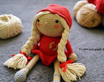 Crochet doll amigurumi  Doll organic Baby doll  Art doll High quality doll
