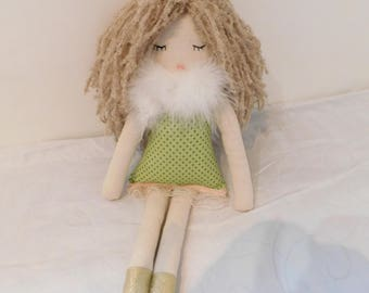 Rag doll-princess rag doll- fabric doll- soft doll-cloth doll-ragdoll