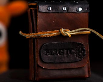 Leather Magic the Gathering card game box