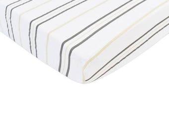 CRIB SHEET - Grey Stripe