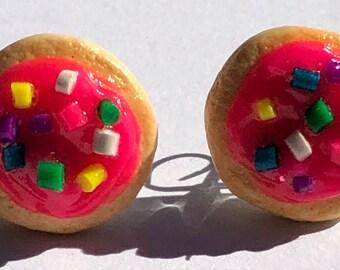 Sugar Cookie Pink Polymer Clay Earrings *NICKEL FREE*