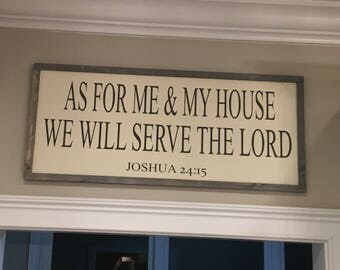 As for me and my house farmhouse sign