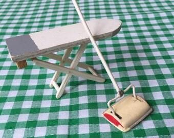 Carpet sweeper/ironing board.dolls house miniature.barton.laundry.lundby size?