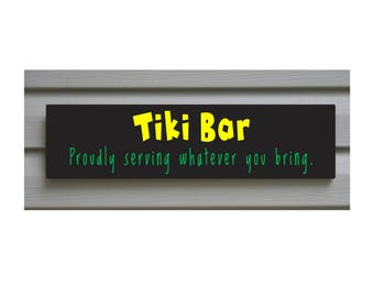 Tiki Collection, Bar Sign,Large, Solid Signboard,Customizing Available S7007