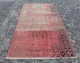 Free Shipping handmade turkish rug 4.4 x 8.6 ft. flowery design floor rug, decorative tribal rug, area rug, rustic rug, boho decor rug MB459