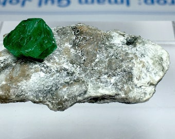 100 Carates Very Amazing Emerald Specimen With Beautiful Color and Luster From Pakistan Swat.