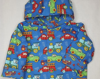 Jacket reversible hooded boys baby toddler size 18 months
