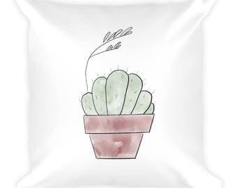 Cute Cactus Clump Pillow