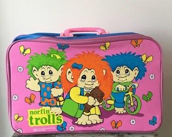 1990's Vintage Trolls Suitcase