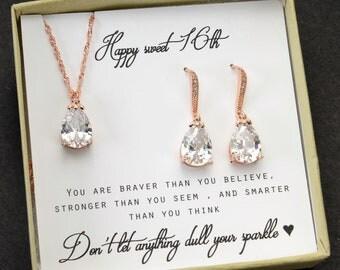 Sweet 16 Gift Sweet 16 Jewelry  16th Birthday gift Daughter's Sweet 16 Birthday  Sweet 16 Birthday Personalized