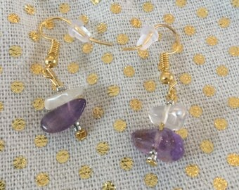 Purple Princess Earrings
