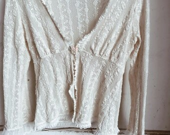 Vintage lace blouse, vintage lace top