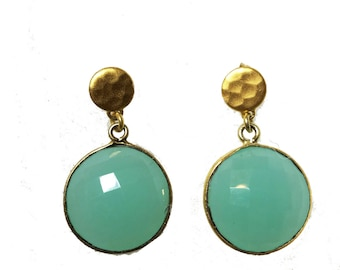 Peruvian Chalcedony Drop Earrings