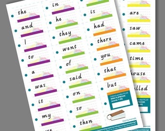 Oxford Wordlist PLUS 1-50 Mini FLIPBOOK Printable PDF Printable for Teachers and Parents