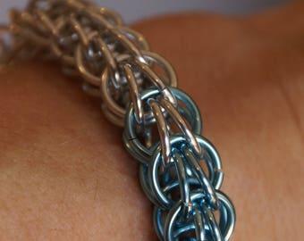 Box Chain Weave Chain Maille Bracelet