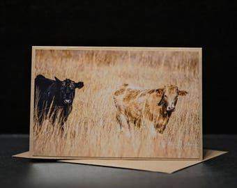 Two Cute Cows Photo Card